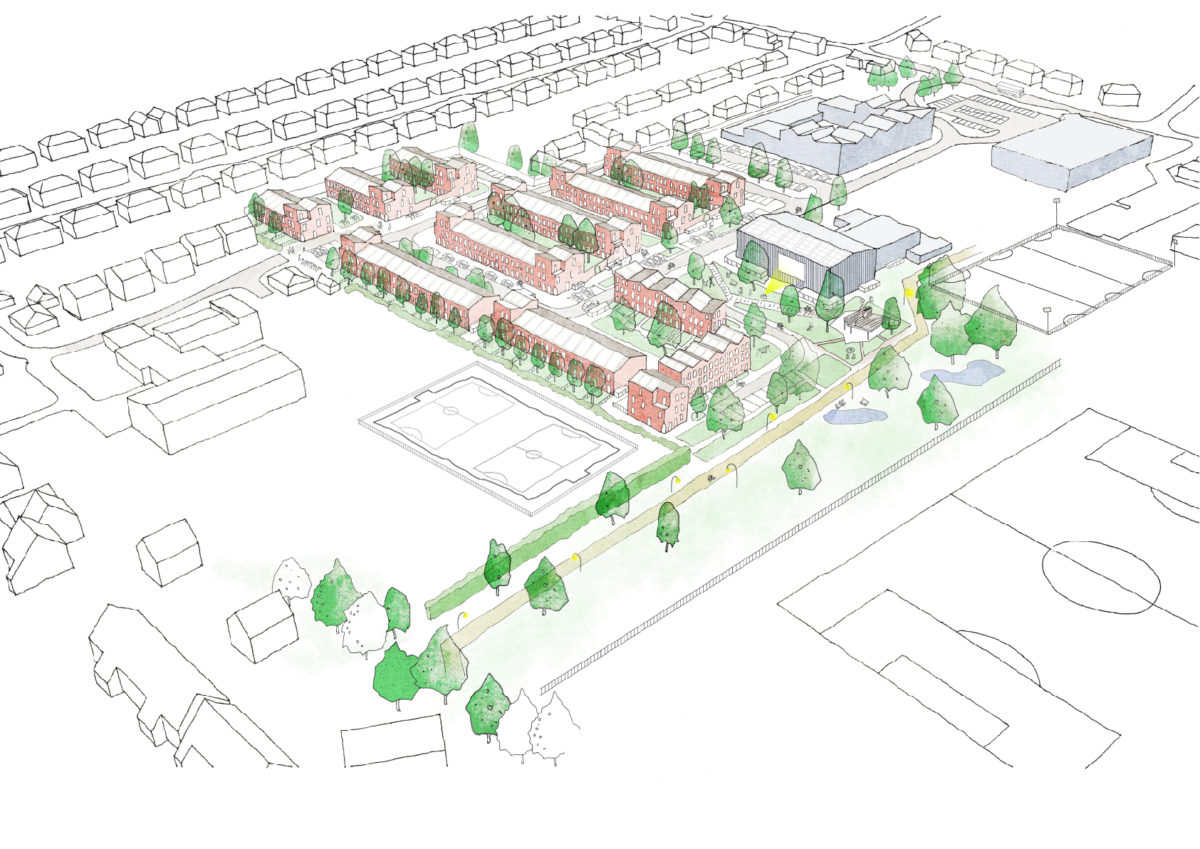 Burnholme - Sketch scheme birds eye view